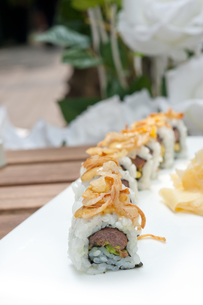 Japanese sushi rolls Maki Sushiの写真素材 [FYI00748928]