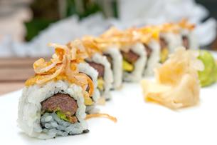 Japanese sushi rolls Maki Sushiの写真素材 [FYI00748930]