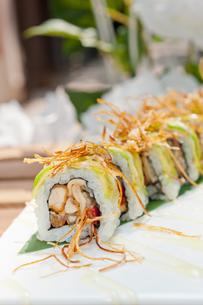 Japanese sushi rolls Maki Sushiの写真素材 [FYI00748937]