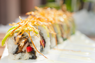 Japanese sushi rolls Maki Sushiの写真素材 [FYI00748939]