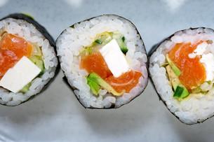 fresh sushi choice combination assortment selectionの写真素材 [FYI00748949]
