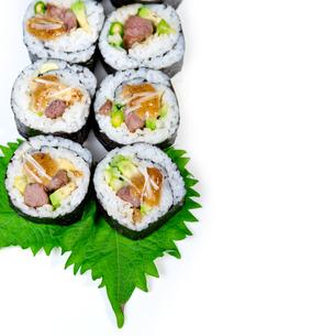 fresh sushi choice combination assortment selectionの写真素材 [FYI00749390]