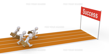 Businessmen running on trackの素材 [FYI00749510]