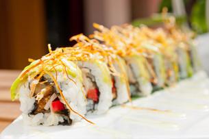 Japanese sushi rolls Maki Sushiの写真素材 [FYI00749511]