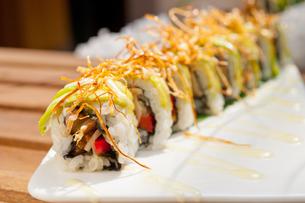 Japanese sushi rolls Maki Sushiの写真素材 [FYI00749517]