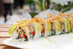 Japanese sushi rolls Maki Sushiの写真素材 [FYI00749520]
