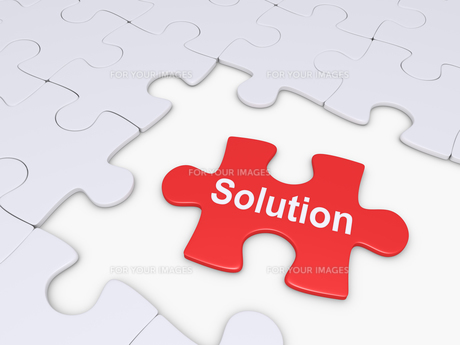 Puzzle piece as solutionの写真素材 [FYI00749522]