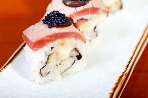 fresh sushi choice combination assortment selectionの写真素材 [FYI00749555]