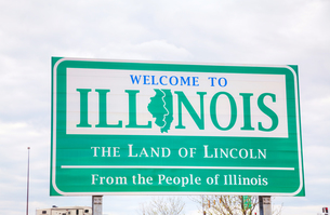 Welcome to Illinois signの写真素材 [FYI00749638]