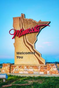 Minnesota welcomes you signの写真素材 [FYI00749642]