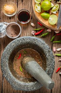 shrimp paste chilli sauceの写真素材 [FYI00749706]