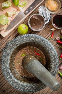 shrimp paste chilli sauceの写真素材 [FYI00749728]