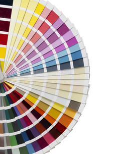 color palette and paintbrushesの素材 [FYI00750377]