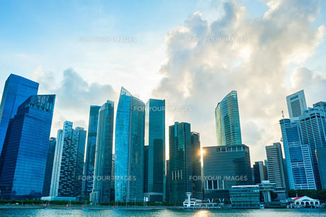 Singapore Downtown, skylineの写真素材 [FYI00750454]