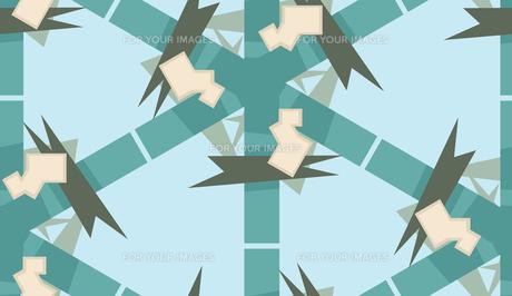 Symmetrical Blue Polygon Patternの素材 [FYI00750566]