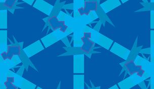 Blue Symmetrical Polygon Patternの素材 [FYI00750568]