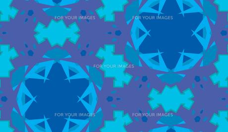 Blue Abstract Kaleidoscope Backgroundの素材 [FYI00750572]