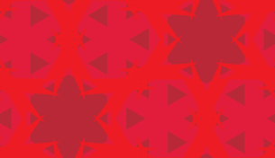 Red Star Abstract Kaleidoscope Backgroundの素材 [FYI00750577]