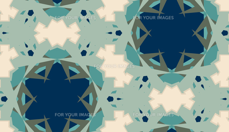 Abstract Kaleidoscope Background with Star Shapesの素材 [FYI00750580]