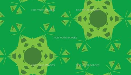 Green Triangular Kaleidoscope Backgroundの素材 [FYI00750584]