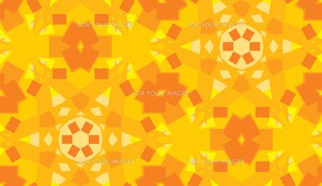 Orange Seamless Kaleidoscope Backgroundの素材 [FYI00750589]