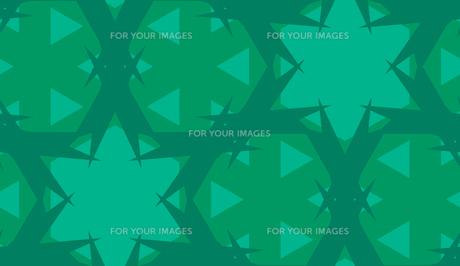 Green Star Abstract Kaleidoscope Patternの素材 [FYI00750591]