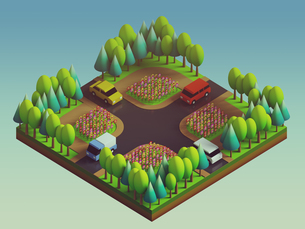 green earth concept in isometric viewの写真素材 [FYI00750603]