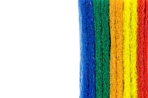 colorful sponge on white backgroundの写真素材 [FYI00750619]