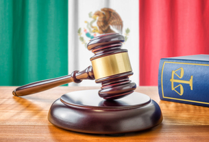 gavel and law book - mexicoの写真素材 [FYI00750652]