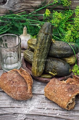 pickled cucumbersの写真素材 [FYI00751451]