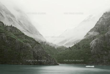 Inside Passage - Tracy Arm landscape, Alaskaの素材 [FYI00751504]