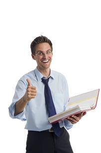 businessman with folder in handの素材 [FYI00752257]