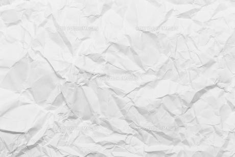Wrinkled white paperの素材 [FYI00752522]