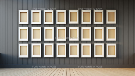 frame modern and black wallの写真素材 [FYI00752577]