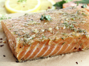 Salted salmon filletの写真素材 [FYI00752712]