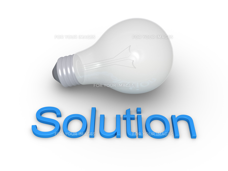 Light bulb and Solution wordの写真素材 [FYI00752788]