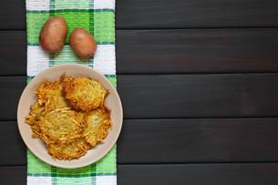 Potato Pancake or Fritterの写真素材 [FYI00752876]