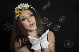 dreams like soap bubblesの写真素材 [FYI00752981]