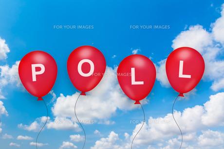 political poll text on balloonの素材 [FYI00752989]