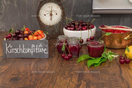 cherry jamの写真素材 [FYI00753017]