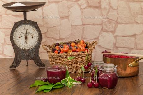 cherry jamの写真素材 [FYI00753022]