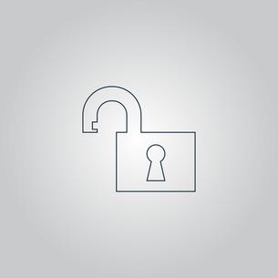 Illustration of Flat open padlock iconの写真素材 [FYI00753478]