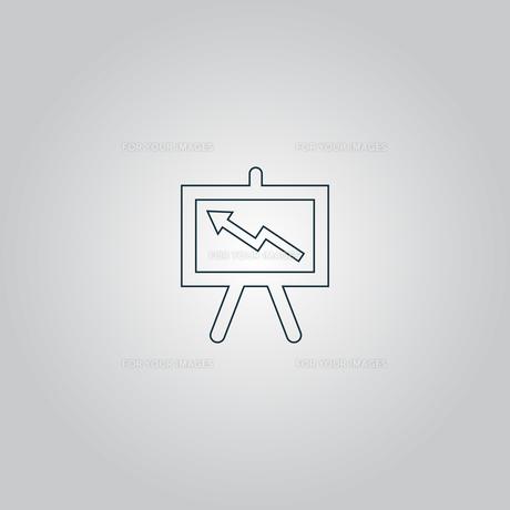 Presentation billboard  icon symbol Flat modern web designの素材 [FYI00753491]
