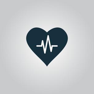 Heart with cardiogramの写真素材 [FYI00753515]