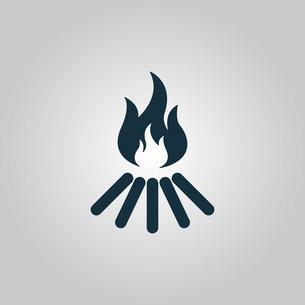 bonfire vector iconの写真素材 [FYI00753517]