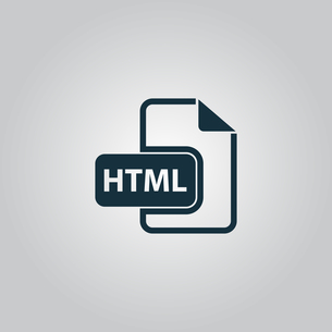 HTML file extension icon vector.の写真素材 [FYI00753524]