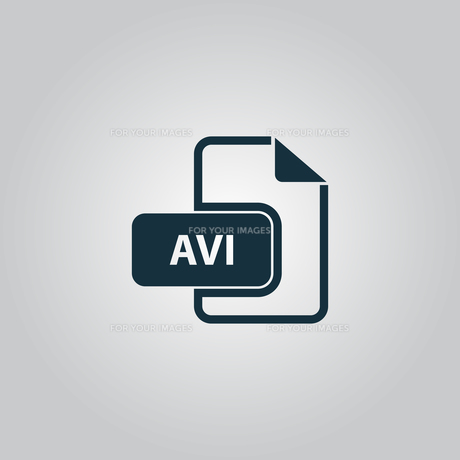 AVI video file extension icon vector.の写真素材 [FYI00753527]