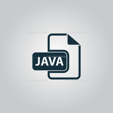 Java development file format flat iconの写真素材 [FYI00753529]
