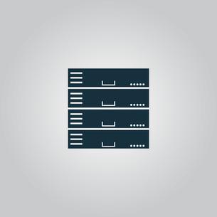 Computer Server icon, flat designの写真素材 [FYI00753534]