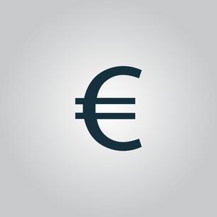 Euro flat icon. Vector illustration.の写真素材 [FYI00753536]